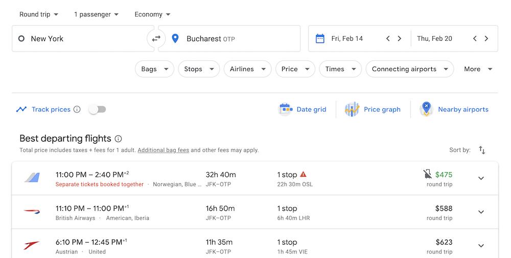 google flights api integration
