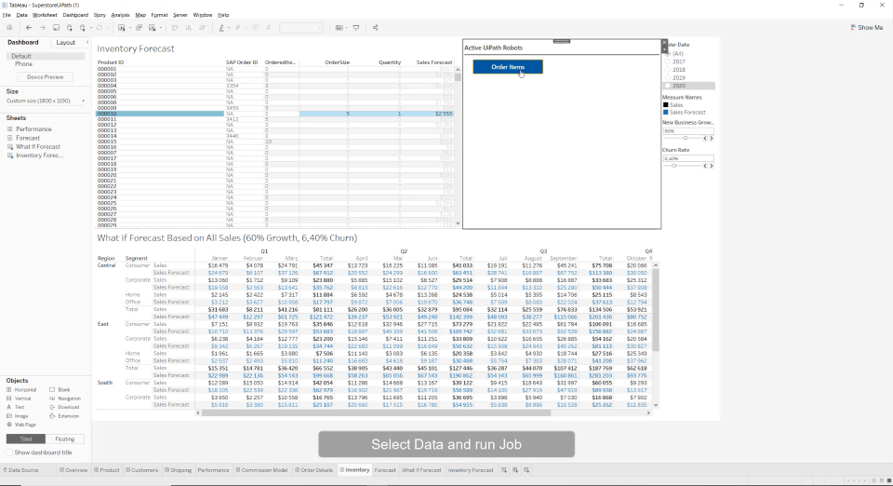 Run UiPath robots right from Tableau