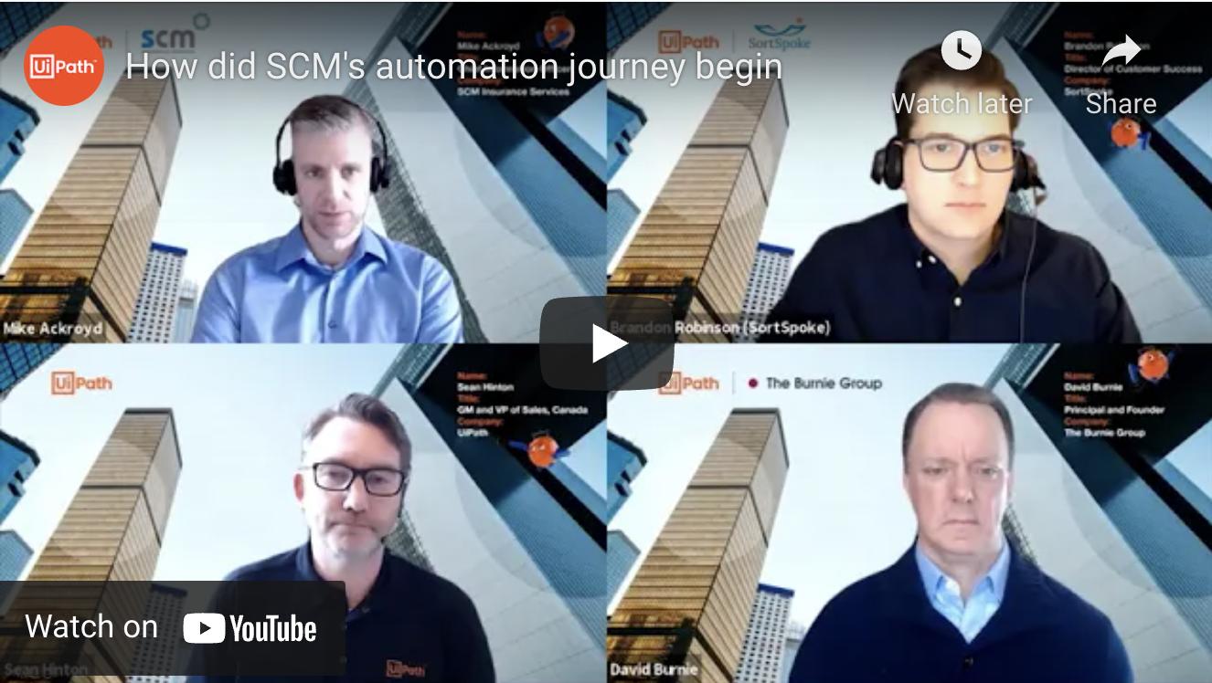 scm insurance services robotic process automation journey