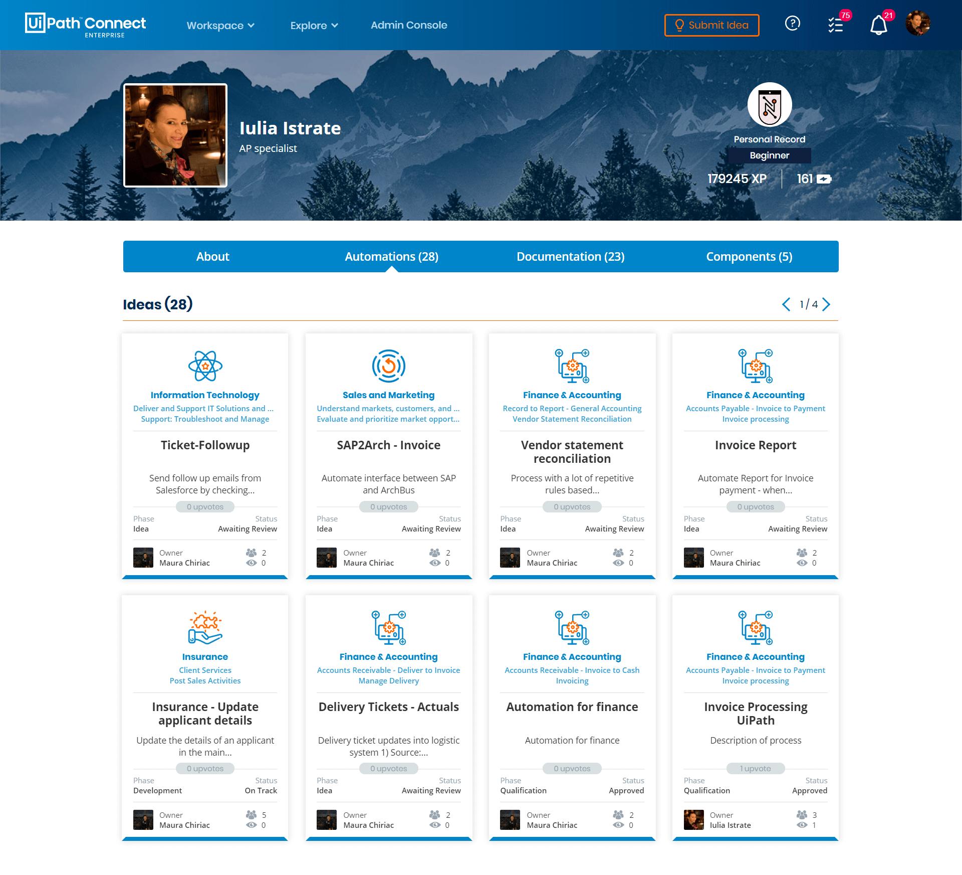 connect enterprise hub example profile
