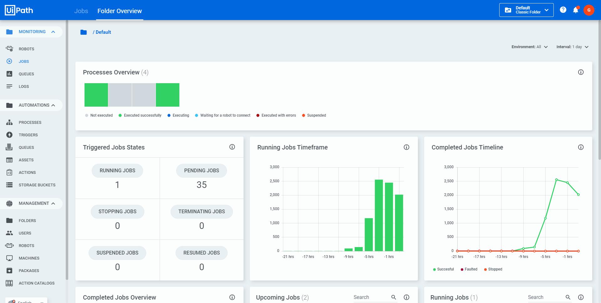 automation cloud for enterprise folder overview