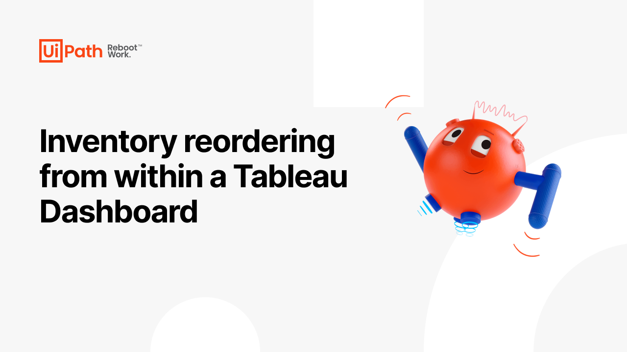 Inventory reordering from within a Tableau Dashboard