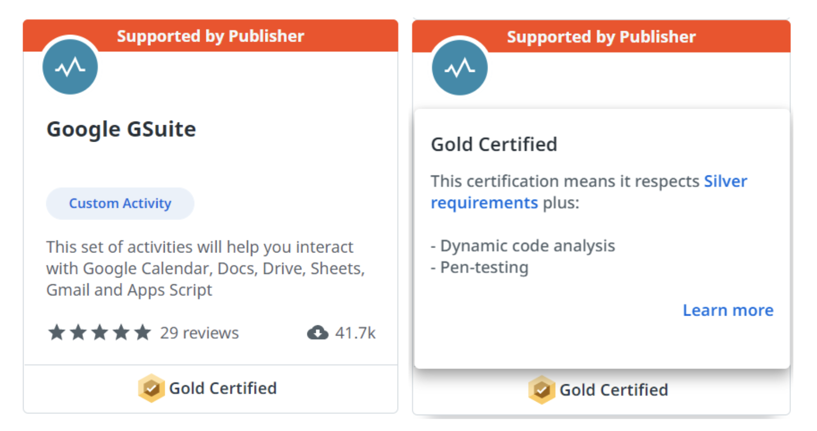 uipath marketplace gold certified example