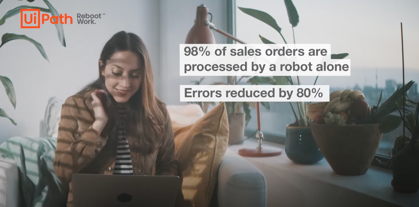 UiPath finance team robots accelerate order to cash process