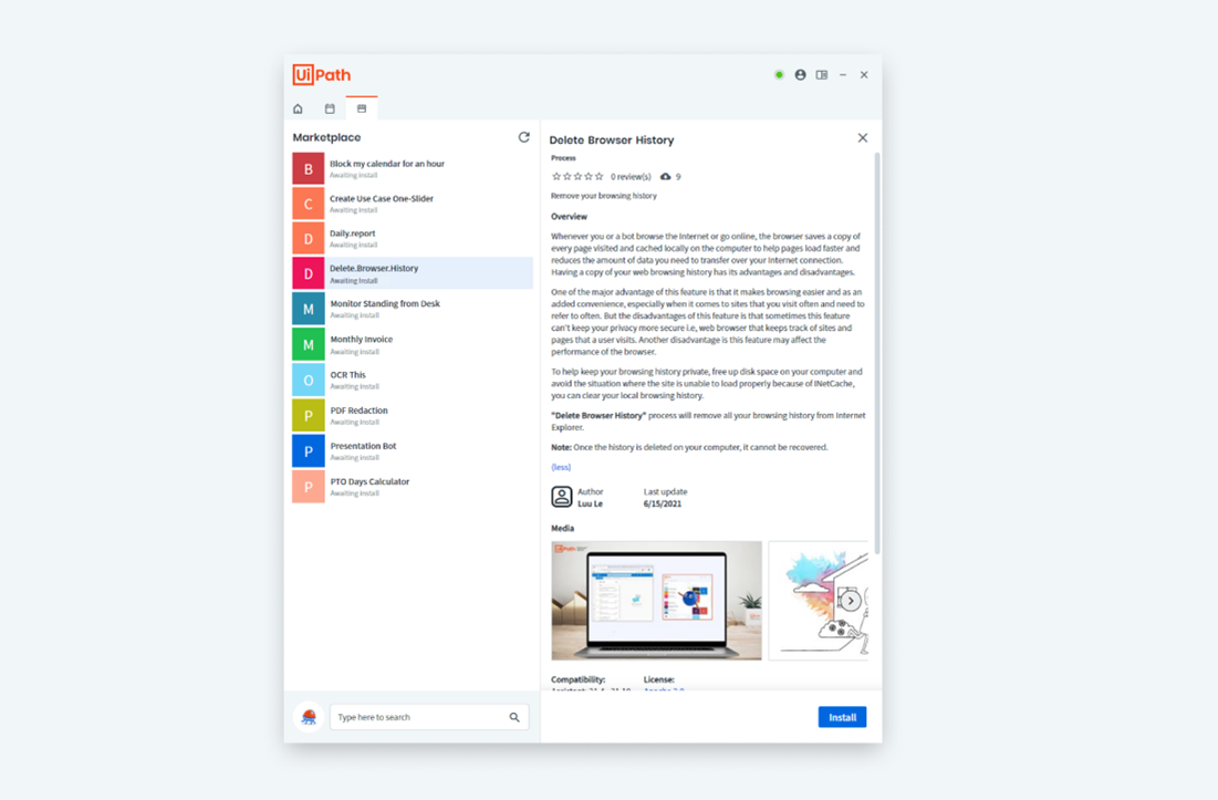 uipath june 2021 new uipath assistant marketplace integration