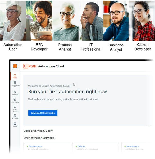 new uipath portal automation cloud