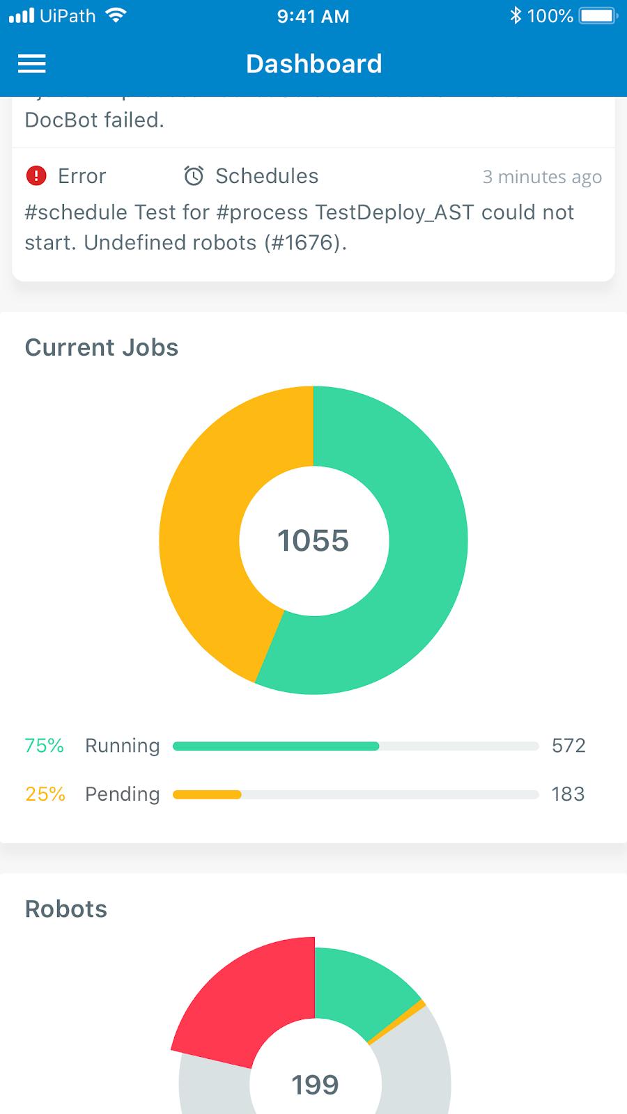 UiPath-Orchestrator-Mobile-App-Dashboard