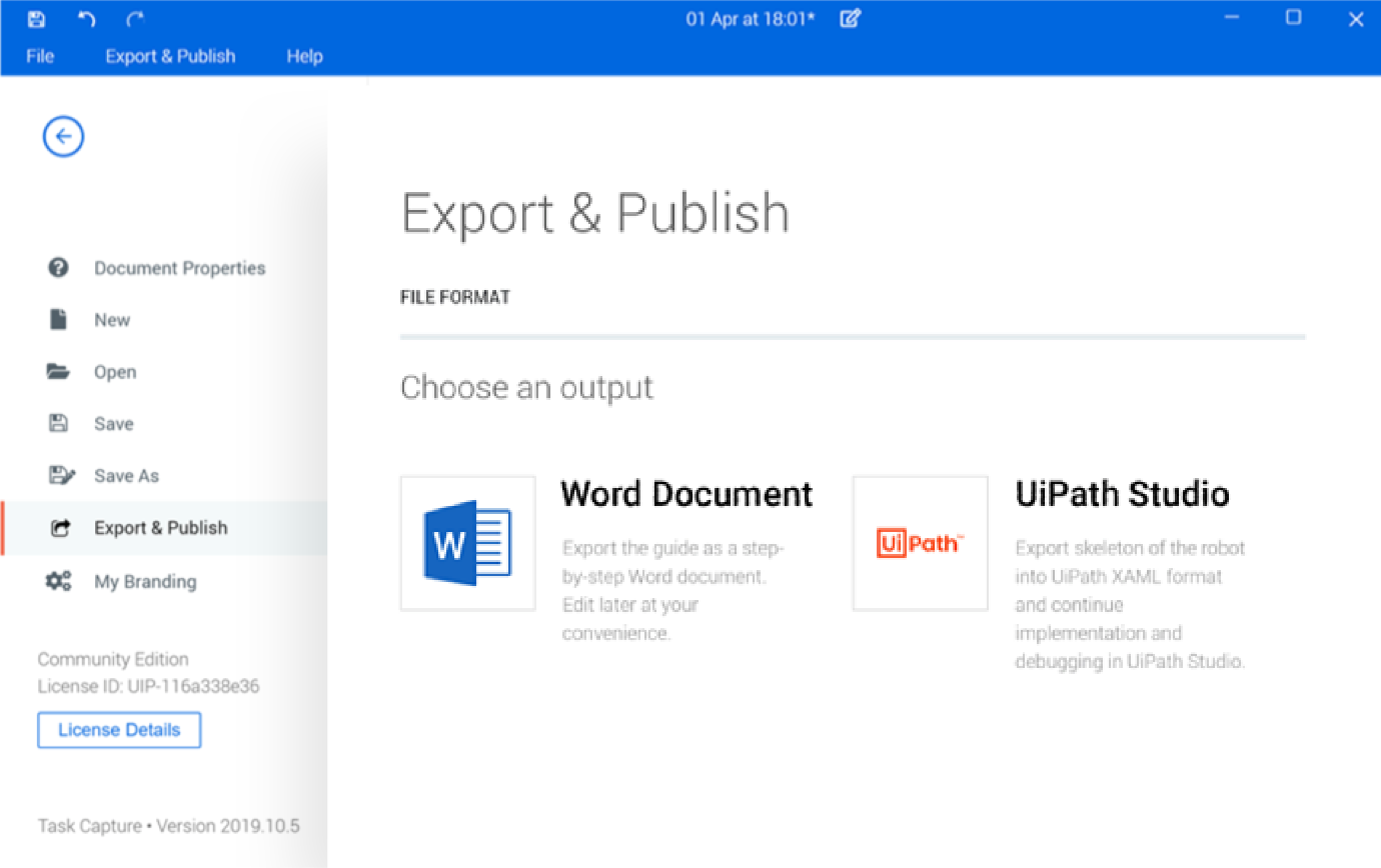 Export and share your process docs