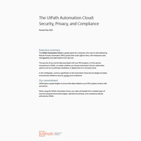 Automation Cloud Security, Privacy, and Compliance
