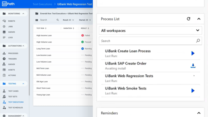 UiPath Test Suite: Execution Orchestration