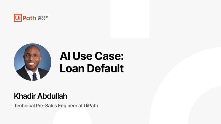 AI Use Case: Loan Default