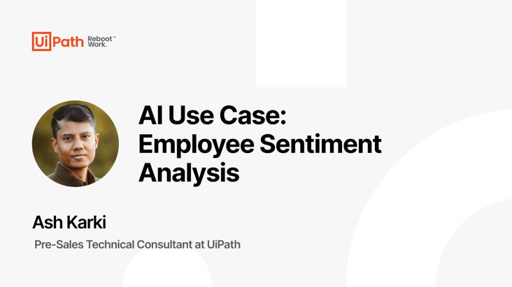AI Use Case: Employee Sentiment Analysis