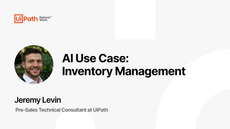 AI Use Case: Inventory Management