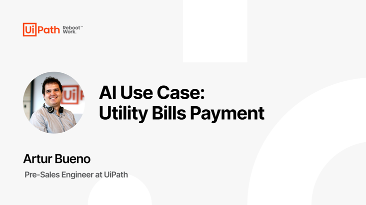 AI Use Case: Utility Bills Payment