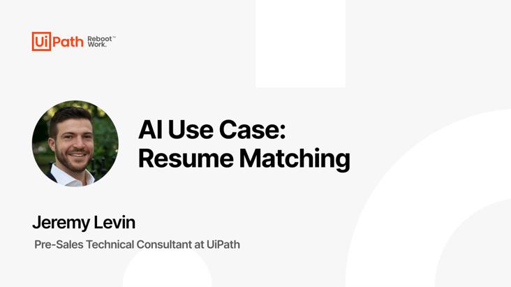 AI Use Case: Resume Matching